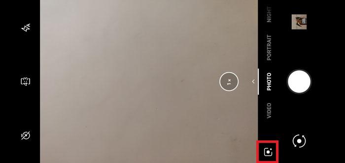 access Google Lens from camera