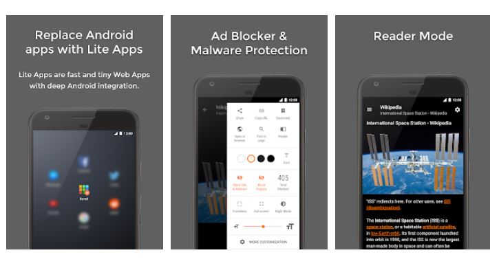 Hermit web browser for Android