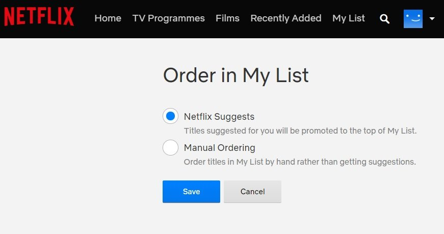 customize suggestions in netflix