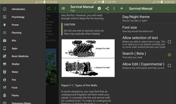Offline Survival Manual App