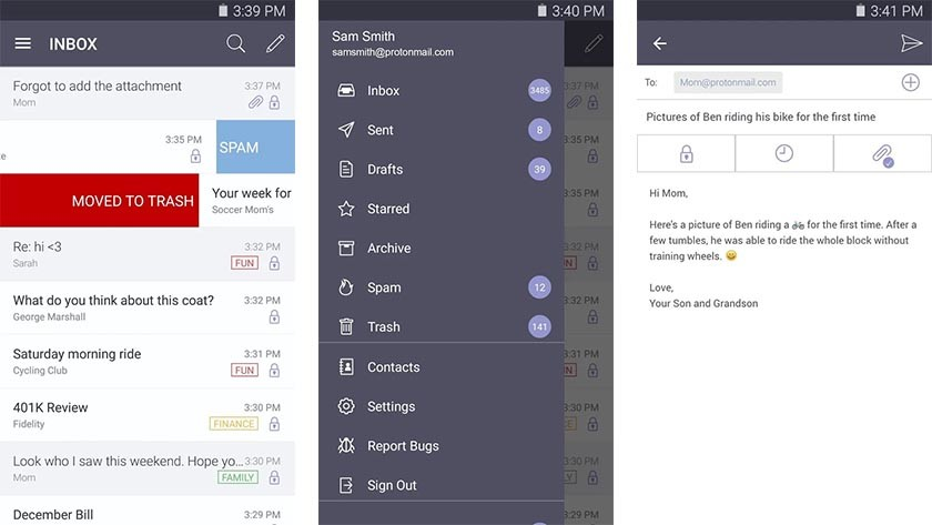 Proton Mail app android