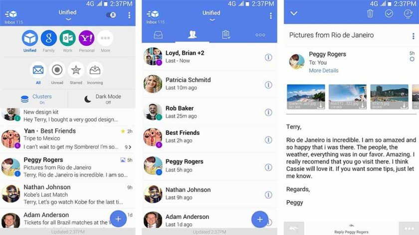 type app email android
