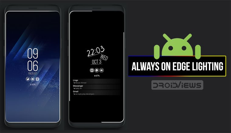 get edge lighting border around screen on any android droidviewsdisplay edge lightning android