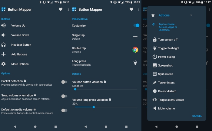 customize physical buttons on Android with button mapper