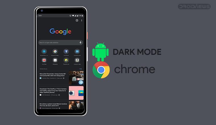 chrome android dark mode