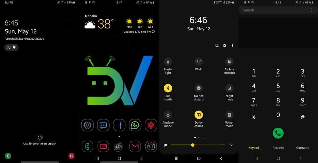 High Contrast Theme Samsung One UI