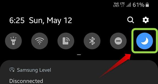 night mode button samsung