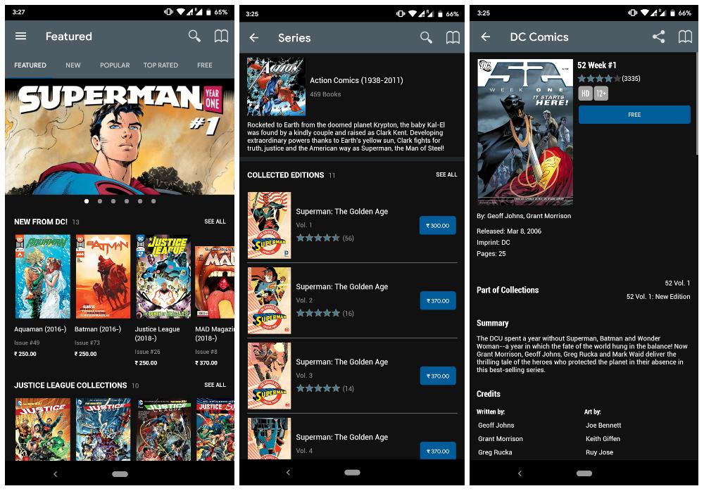 DC Comics Official comic app