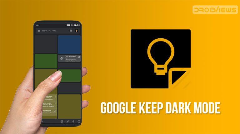 google keep dark mode screenshots
