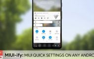 MIUI Quick settings and Notification panel