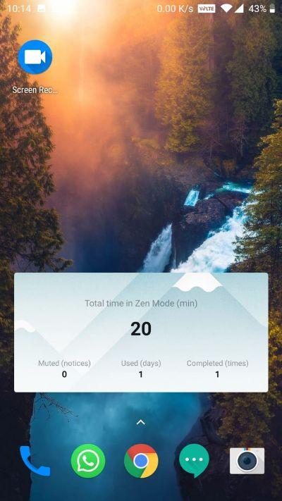zen mode widget