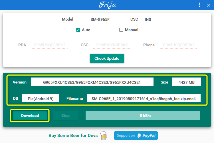 samsung firmware update download