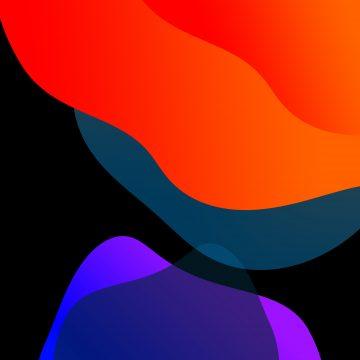 iOS 13 wallpapers orange purple droidviews