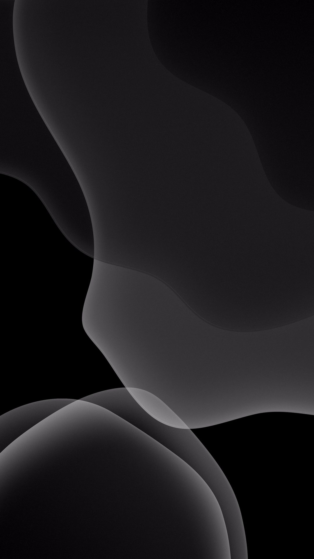 ios 13 gray black wallpaper