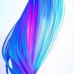 realme x blue wallpaper
