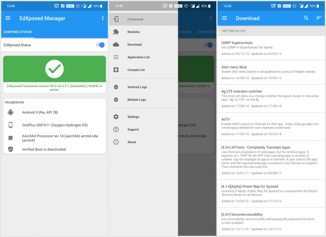 EdXposed: Xposed Framework on Android Pie