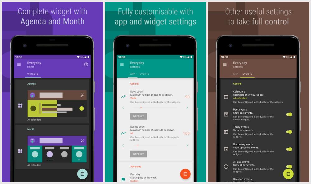 Everyday Calendar widget android