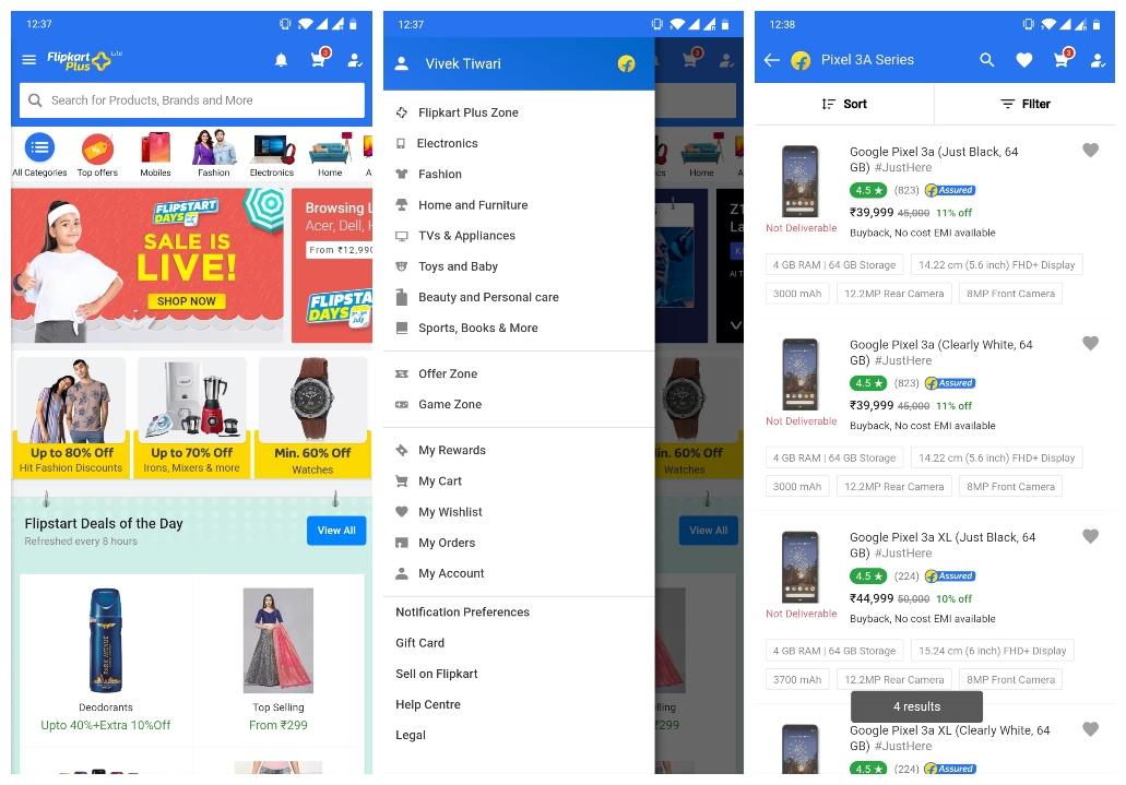 Flipkart Lite Progressive Web App