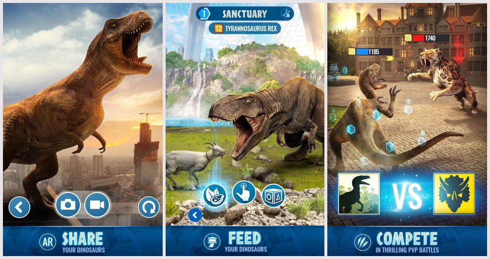Jurassic World Alive ar game android