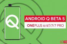 Android Q Beta 5 on OnePlus