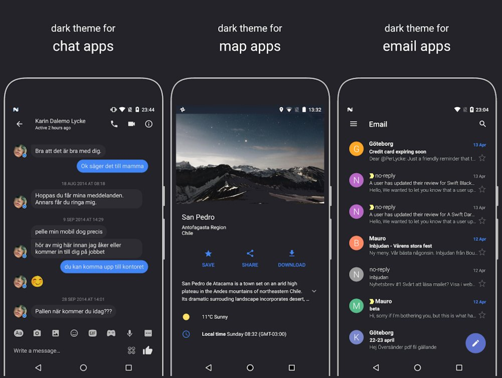 Swift Dark theme for Oxygen OS
