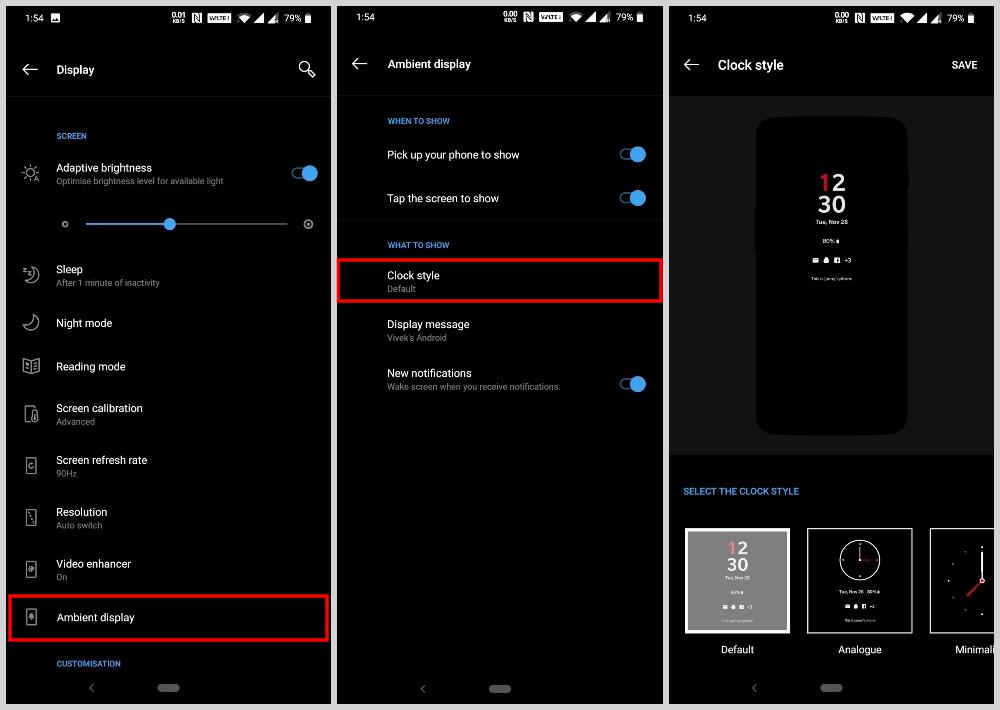 OnePlus 7 Pro Ambient Display