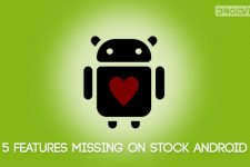 stock android missing features