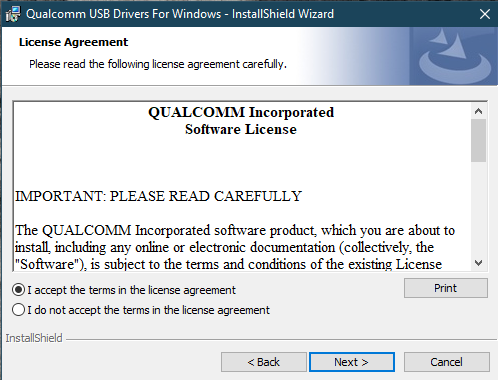 Qualcomm HS-USB QDLoader 9008 drivers T&C