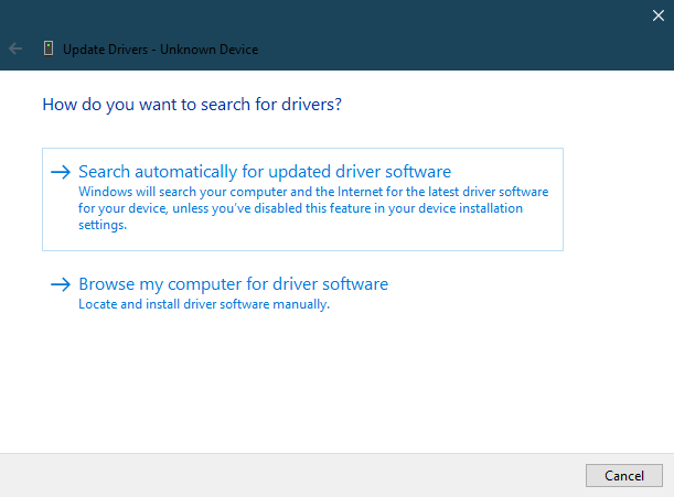 search drivers in windows