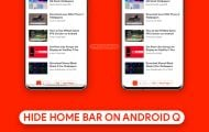 Hide Home Bar on Android Q