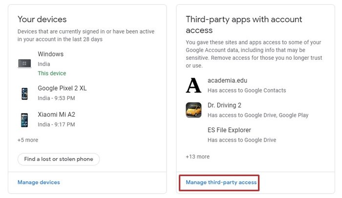 Manage third-party app access