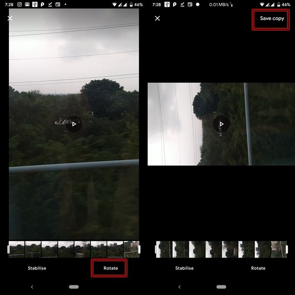 Video Rotate feature