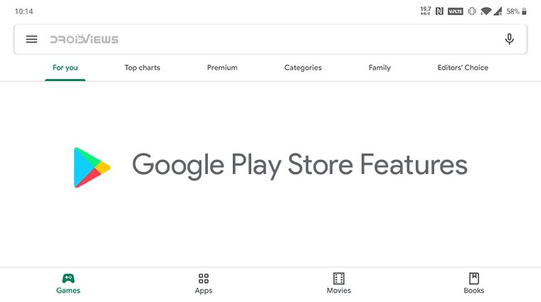 google play store features