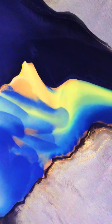 LG V35 colorful clouds wallpaper