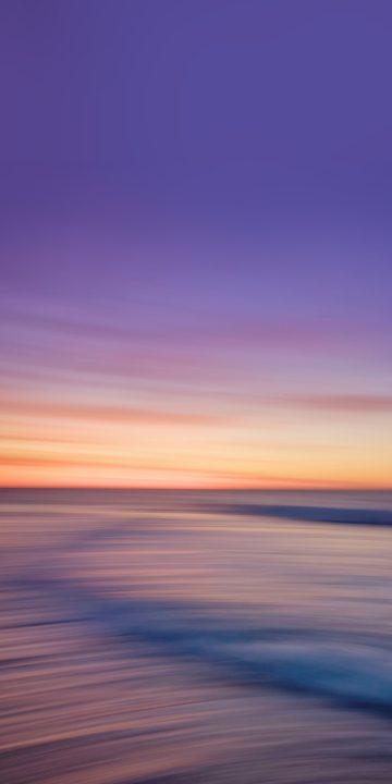 LG V35 sunset wallpaper
