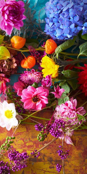 LG V35 flowers wallpaper