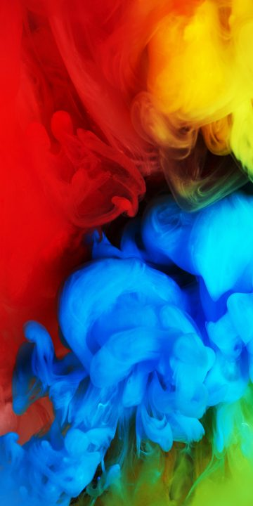 LG V35 colorful smoke wallpaper