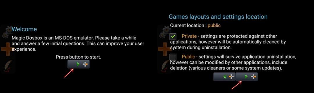 Magic Dosbox app setup