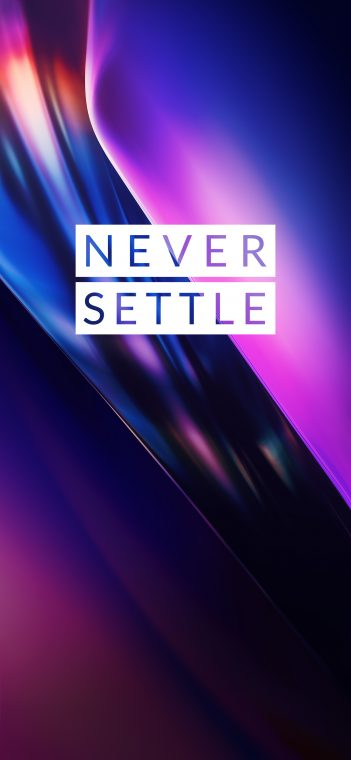 never settle wallpaper blue