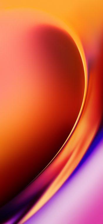 OnePlus 7T orange wallpaper