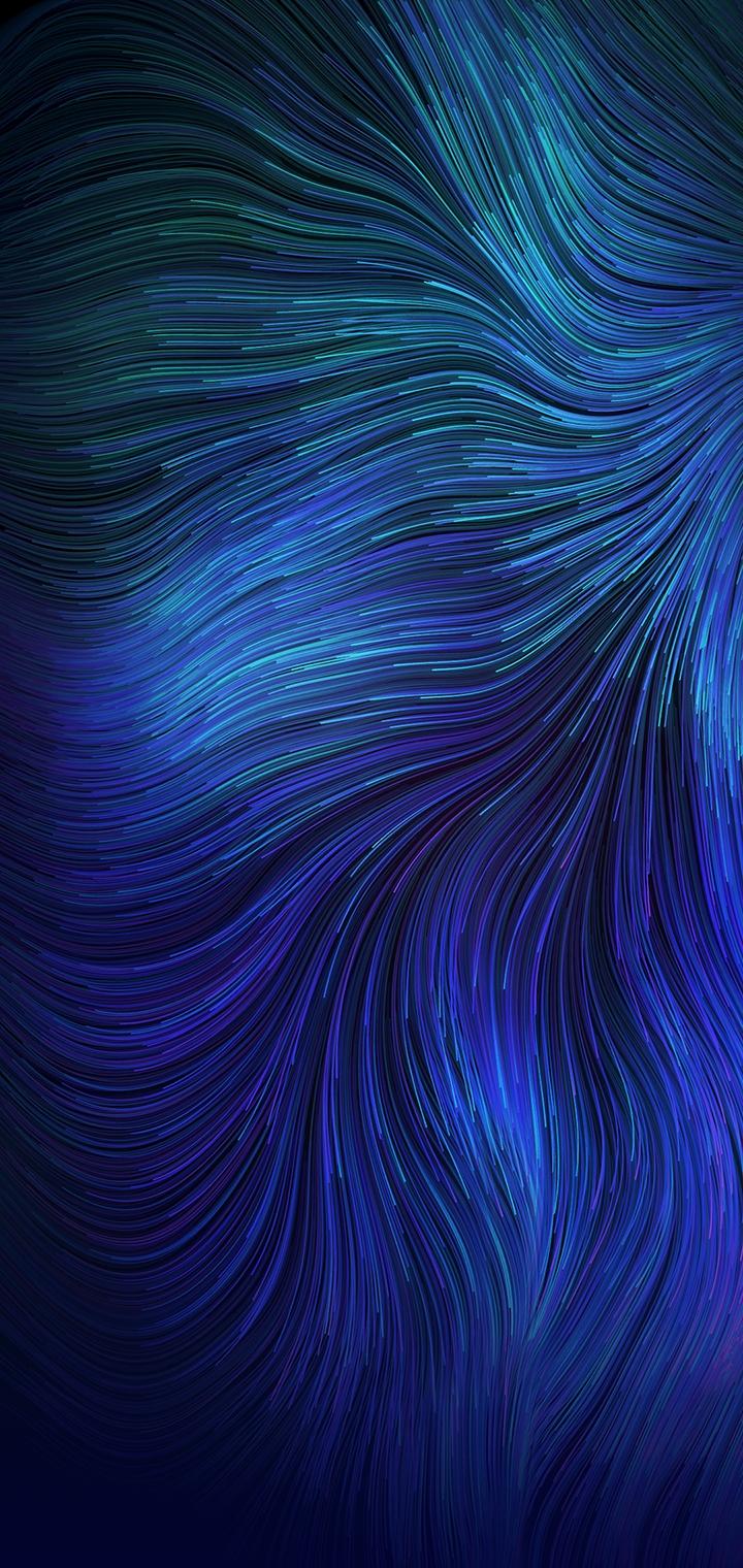 reno 2z wallpaper blue