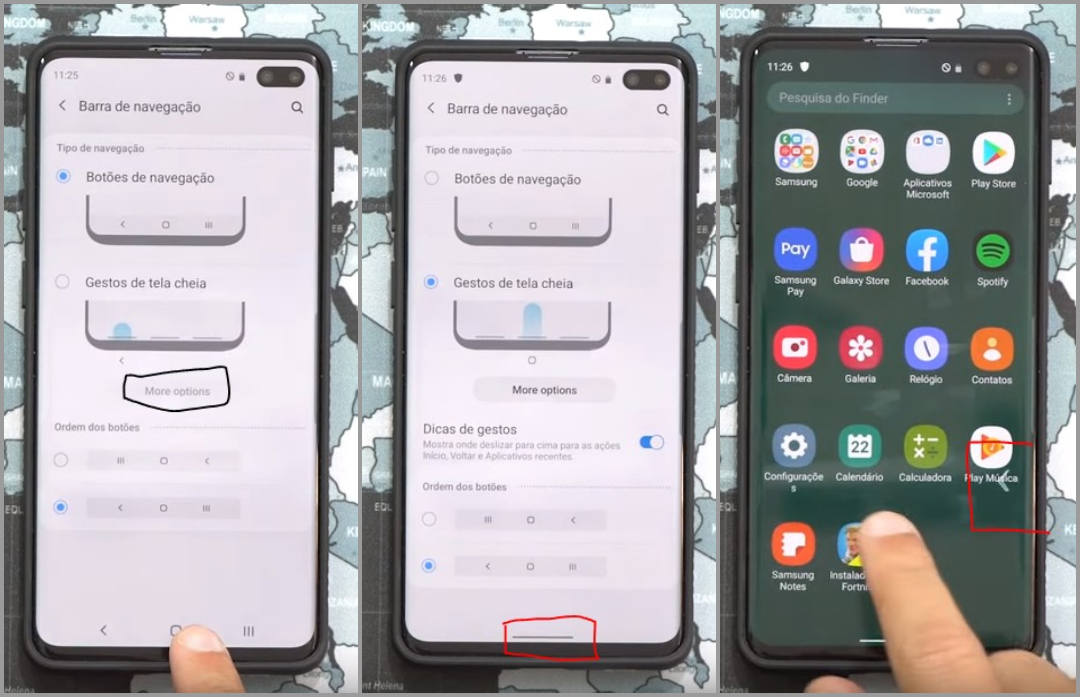 Samsung OneUI 2.0 Navigation Gestures
