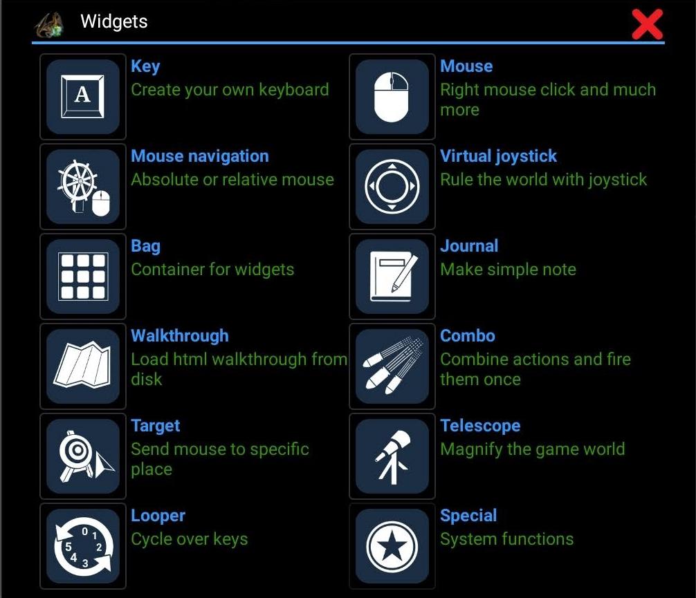dosbox widgets