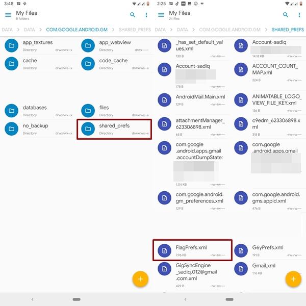 gmail preferences xml