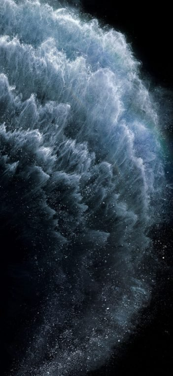 iPhone 11 Space Particles Wallpaper