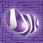 purple tiles wall