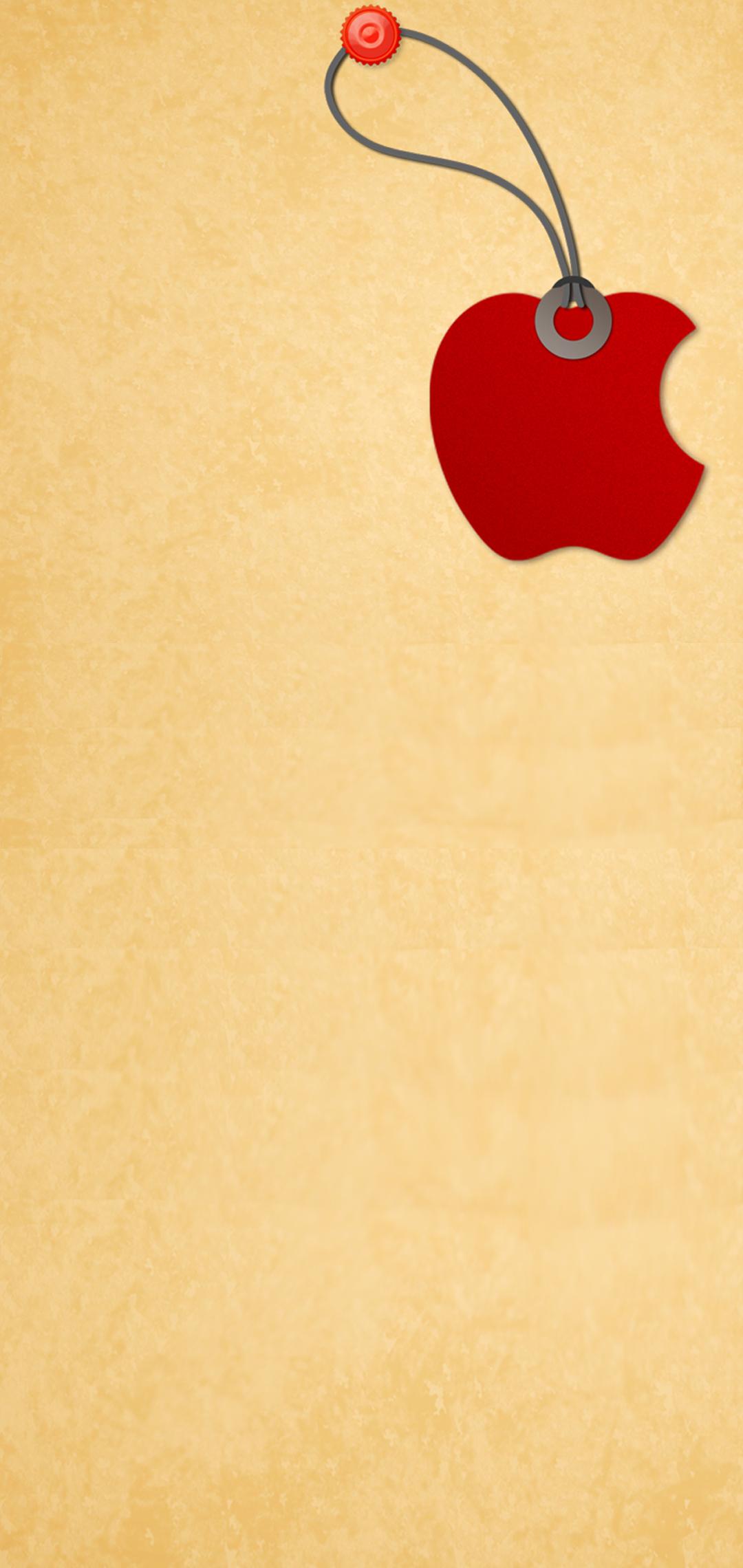 apple logo hole-punch wallpaper