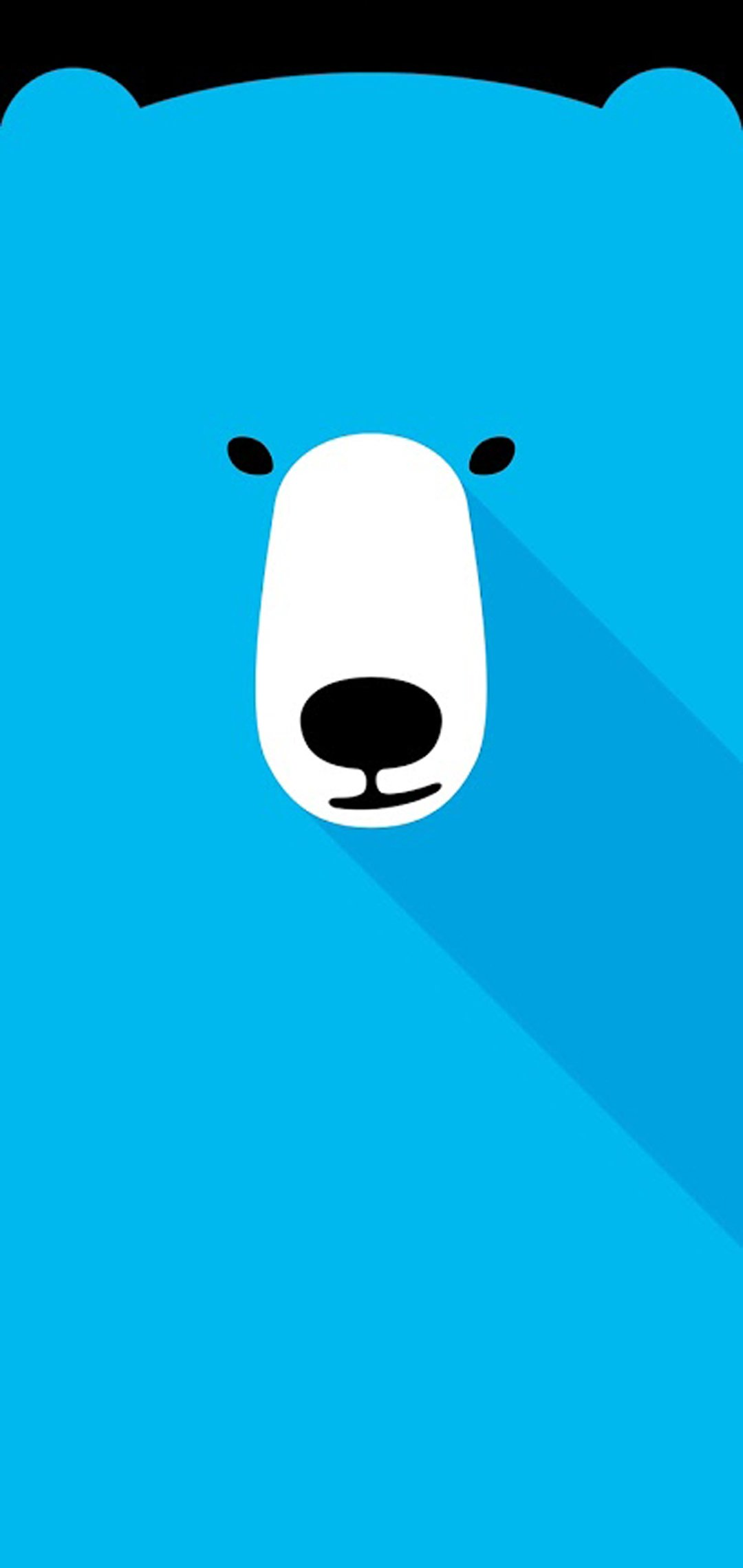 polar bear hole-punch wallpaper