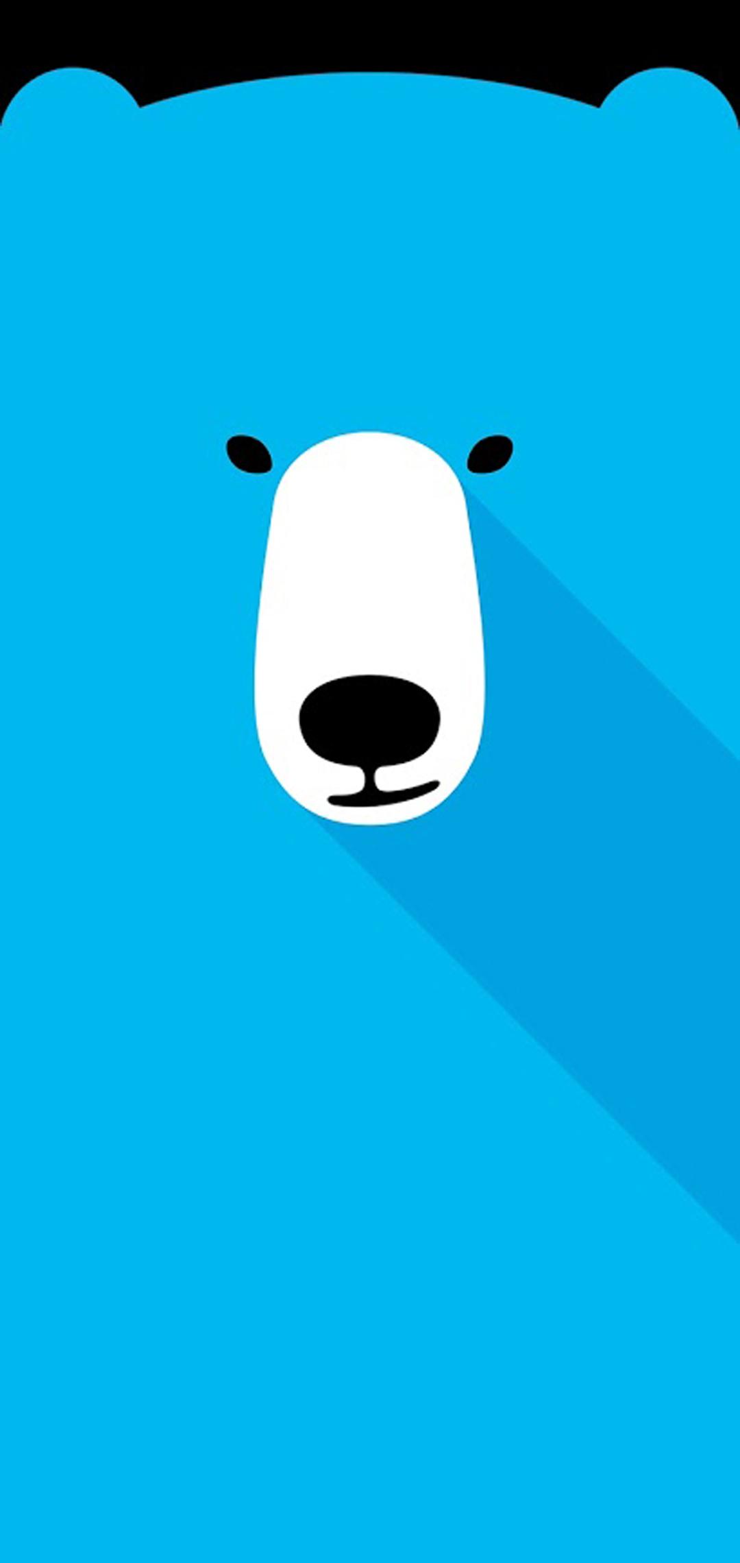 polar bear hole-punch wallpaper