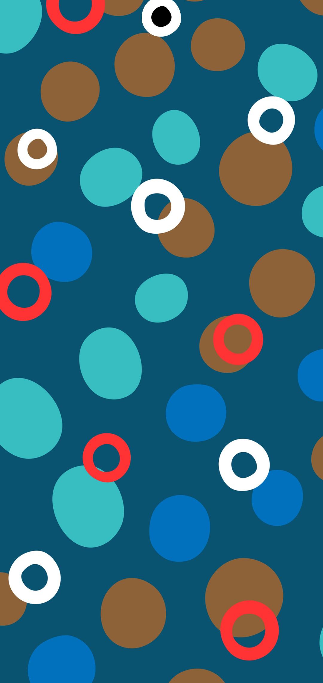 circle art hole-punch wallpaper